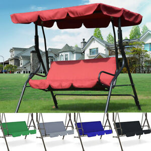 3 Seats Swing Cover Chair Waterproof Cushion Patio Garden Outdoor Replacement