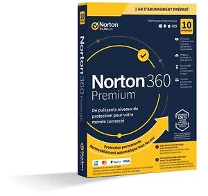 Norton 360 Premium 2021 10 App 10 PC 1 an PC 2021 PC MAC Internet Security FR EU