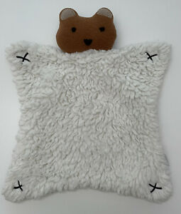 West Elm Pottery Barn Kids Bear Fleece Security Blanket
