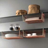 Under Shelf Storage Basket Mesh Organiser Holder Space Saving Hanging Shelves