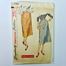 Vintage 50s Simplicity Sewing Pattern Slim Skirt SIMPLE TO MAKE Waist 28 Hip 37