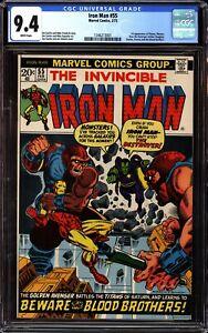 Iron Man 55 CGC 9.4 White 1st Appearance of Thanos Drax Starfox Blood Brothers
