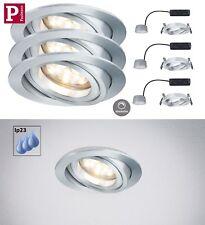 PAULMANN EBL LED Set Coin 3x7W Alu Dimmbar nur 3cm Einbautiefe IP23 UVP 99,95€