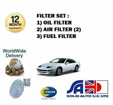 FOR NISSAN 300ZX 3.0 TWIN TURBO 1990->NEW SERVICE KIT OIL 2X AIR FUEL FILTER SET