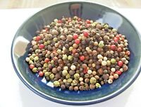 RAINBOW PEPPERCORNS MIXED 5 - COLOR WHOLE  2, 4, 8, 16, 32 OZ  RESEALABLE BAG
