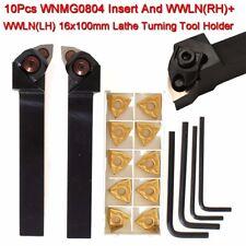 Set 10x WNMG0804 Inserti + WWLNR1616H08+WWLNL1616H08 16x100mm Utensili da tornio