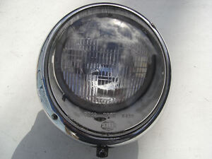 PORSCHE 356 A B C SC HELLA HEAD LIGHT LAMP NON FLUTED 356A 356B 356C 356SC RAISE