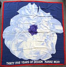 étole foulard en crêpe de soie HANAE MORI  109 x 105 cm neuf