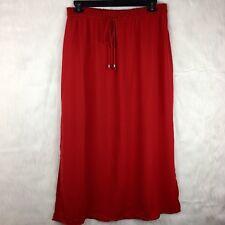 Fourteenth Place Large Skirt Maxi Red Slit Drawstring Long Minimalistic