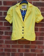 Nümph Yellow Cotton Blend short sleeve Jacket UK 12 FR 40 D 38