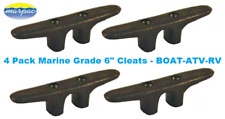 "4 Pack Black 6"" Nylon Cleat Boat Marine Dock Anchor Line Rope Tie-Down RV ATV"
