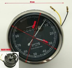 Smiths Speedometer 80 mph 80 mm fitment replica BSA Royal Enfield Norton Chrome