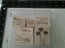 Stampin Up Happy Harmony Rubber Stamps Set New Retired Happiness Dream Phrases