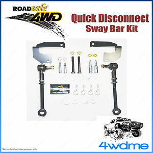 """Jeep Wrangler JK 4WD Roadsafe Quick Disconnect Front HD Sway Bar Kit 2 - 8"""" Lift"""