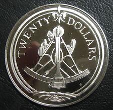 ILES VIERGES BRITANNIQUES - 20 DOLLARS 1985 - Argent - N°10
