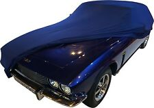 Super Soft Stretch Indoor Car Cover-Personalised Gift-Universal Fit Navy,Medium