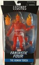 """HUMAN TORCH Hasbro FANTASTIC FOUR Exclusive Marvel Legends 2017 6"""" Inch FIGURE"""