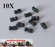 25x LEGO® Platte 1x1 mit Öse//Ring//Clip Light 4081 NEU dunkelgrau