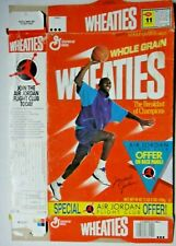 Wheaties Cereal Box-1989 Micheal Jordan Flight Club Collectors Box -Flat Box
