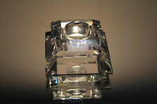 Swarovski Small Square Candle Holder 7600 Nr 103 Silver Crystal Mint with Box