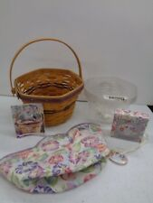 Longaberger 2000 May Series Morning Glory Basket Floral Liner Combo Mother's Day
