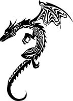 Tribal Dragon Magic Flying Creature Car Truck Window Laptop Vinyl Decal Sticker