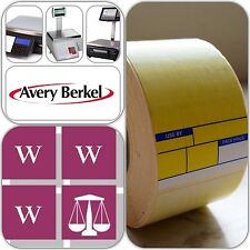 Avery Berkel Thermal Scale Labels - Format 1, 49x75mm, 36 Rolls, 18,000 Labels