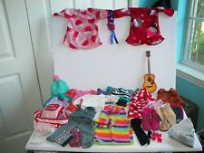 Lot of our generation & Other Clothing Clothes Accessories 33 Items + Bows Scarf