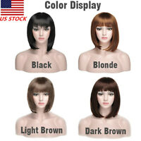 35cm Long Fashion Bobo Short Straight Cosplay Costume Party Hair Wigs Full Wigs