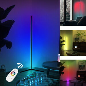 "55"" Corner Floor Lamp- RGB Color Lighting Dimmable LED Modern Floor Light+Remote"