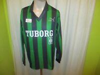 """Borussia Mönchengladbach Puma Langarm Trikot 1991/92 """"TUBORG"""" + Nr.7 Gr.L"""