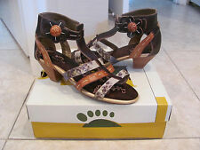 $99 SPRING STEP Pleasure Womens Sandals Heels Brown Multi 40 US 9 NWB