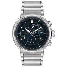 Citizen Eco Drive Men's Chronograph Proximity Black Dial Steel Watch BZ1000-54E