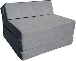 Natalia Spzoo Fold Out Guest Chair Z Bed Futon Sofa (Grey) Folding Matress New