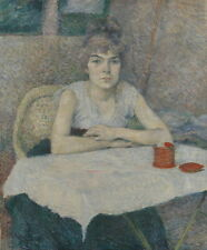 Henri de Toulouse Lautrec Young woman at Giclee Canvas Print Paintings Poster Re