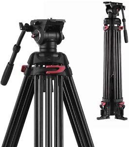 "Heavy Duty 72"" Pro Camera Tripod for DV DSLR Video Stand Fluid Pan Head+Bag"
