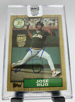 2017 Topps Archives Signature Postseason Series Auto Jose Rijo 2/33 Oakland A's