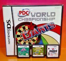 Madden NFL 05, World Darts, Sonic Tennis Little League -Nintendo DS Lite 3DS 2DS