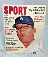 Sport Magazine October 1961 Wally Moon Los Angeles Dodgers NO Label