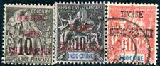 INDOCHINE PAKETMARKEN 1898 Yvert CP 1,4-5 gestempelt 100€(F4359