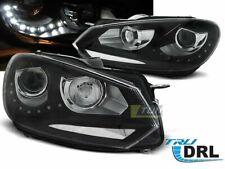 Coppia di Fari Anteriori LED DRL Inside per VW GOLF 6 VI 2008-2012 Daylight Neri