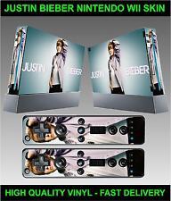 NINTENDO CONSOLE WII autocollant peau Justin Bieber Style Skin & 2x manette