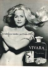PUBLICITE ADVERTISING  1968   EMILIO PUCCI  parfum VIVARA