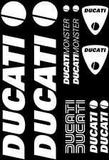 Kit de 10 Sticker Autocollant Ducati Blanc d06