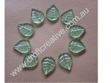 10 X CRYSTAL GLASS LEAVES - JEWELLERY CRAFT
