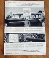 1953 Chrysler Plymouth Dodge DeSoto Ad Safety First & This is Why