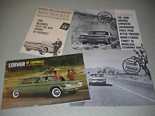 1960 CHEVROLET CORVAIR SHOWROOM BROCHURE / CATALOG + 60 ROAD TESTS / 3-4-1 Deal