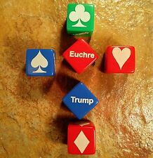 Qty 3 Laser Engraved Euchre Trump Marker Indicator NEW (3 Colors to pick from)