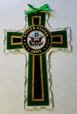 joan baker stained glass United States Army cross 10x7