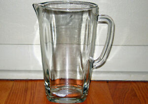 GLASS CRISTAR GENOVA BEVERAGE PITCHER BEER GWATER THICK WALLED 1.5 QT CAPACITY
